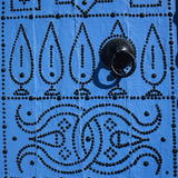 Close Up of Traditional Tunisian Door  Sidi Bou Said  Tunisia  North Africa  Africa