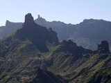 View to Roque Nublo Near Tejeda  Gran Canaria  Canary Islands  Spain  Europe
