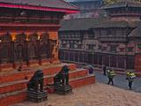 Stone Lions of Durbar Square  Kathmandu  Nepal  Asia