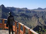Statue at Artenara  Gran Canaria  Canary Islands  Spain  Europe