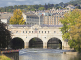 Pulteney Bridge on River Avon  Bath  UNESCO World Heritage Site  Somerset  England  United Kingdom