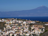 View over San Sebastian De La Gomera to Pico De Teide on Tenerife  Gomera  Canary Islands  Spain  A