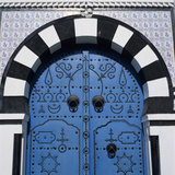 Traditional Tunisian Doorway  Sidi Bou Said  Tunisia  North Africa  Africa