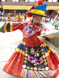 Monks Performing Traditional Black Hat Dance at the Wangdue Phodrang Tsechu  Wangdue Phodrang Dzong