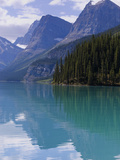 Mountains Reflected in Maligne Lake  Jasper National Park  UNESCO World Heritage Site  British Colu