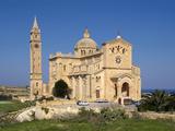 Cathedral Ta Pinu Near Gharb  Gozo  Malta  Mediterranean  Europe