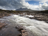 River Sligachan Tumbling over Rocks with Sgurr Nan Gillean in Distance  Glen Sligachan  Isle of Sky