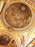 Interior of Dome  Gozo Cathedral  Rabat (Victoria)  Gozo  Malta  Europe