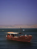 Tourist Boat on Lake Tiberias  the Sea of Galilee  North Israel  Israel  Middle East