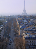 The Eiffel Tower from the Arc De Triomphe  Paris  France  Europe