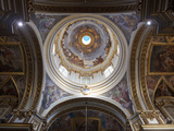 Interior of Dome  St Paul's Cathedral  Mdina  Malta  Europe