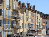 Houses on the Quayside  Vieux Port Harbour  St Tropez  Var  Provence  Cote D'Azur  France  Europe