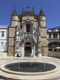 The Santa Cruz Church  with Manueline Facade  on the Praca 8 De Maio Square  Coimbra  Beira Litoral