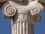 Detail of Pillar on the Erechtheion at the Acropolis  UNESCO World Heritage Site  Athens  Greece  E