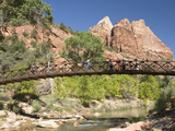 The Virgin River  Foot Bridge to Access the Emerald Pools  Zion National Park  Utah  United States