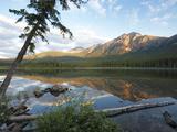 Early Morning Light at Pyramid Lake  Jasper National Park  UNESCO World Heritage Site  British Colu