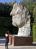 Young Woman Taking Photograph of the Monumental Head  by Igor Mitora  Boboli Gardens  Florence  Tus