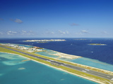 Male International Airport and Male  Maldives  Indian Ocean  Asia