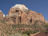 Sandstone Formations Viewed from the Zion to Mount Carmel Highway  Zion National Park  Utah  United