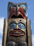 The Top of a Totem Pole  Duncan  Victoria Island  British Columbia  Canada  North America