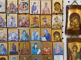 Orthodox Icons for Sale in the Plaka District  Athens  Greece  Europe