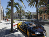 Luxury Car Parked on Rodeo Drive  Beverly Hills  Los Angeles  California  United States of America