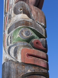 Section of Totem Pole Outside the Maritime Museum  Vancouver  British Columbia  Canada  North Ameri