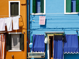 Colourfully Painted Houses Situated on Canal Banks on the Island of Burano  Located Near Venice  Ve