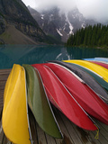 Moraine Lake  Valley of the Ten Peaks  Banff National Park  UNESCO World Heritage Site  Alberta  Ro