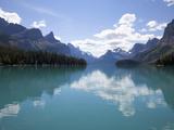 Mountains Reflected in Maligne Lake  Jasper National Park  UNESCO World Heritage Site  British Colu