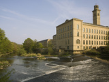Salts Mill  UNESCO World Heritage Site  Saltaire  Near Bradford  Yorkshire  England  United Kingdom