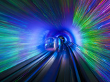 The Bund Sightseeing Tunnel under the Hangpu River  Shanghai  China  Asia