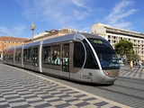 Tram Passing Through Place Massena  Nice  Alpes Maritimes  Provence  Cote D'Azur  French Riviera  F