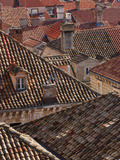 Rooftops from Old Town Walls  Dubrovnik  Croatia  Europe