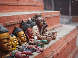Masks for Sale in Durbar Square  Kathmandu  Nepal  Asia