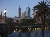 St Paul's Cathedral  City Centre and Yarra River at Dusk  Melbourne  Victoria  Australia  Pacific