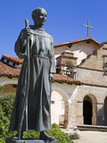 Statue of Father Junipero Serra Outside Mission San Antonio  Monterey County  California  United St
