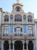 The Ornate Facade of One of the Many Art Nouveau Style Buildings That Line the Central Canal in Ave