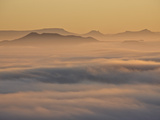 Cloud Layer at Dawn  Mountain Zebra National Park  South Africa  Africa