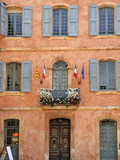 Mairie Office with Typical Ochre Coloured Walls  Roussillon  Parc Naturel Regional Du Luberon  Vauc
