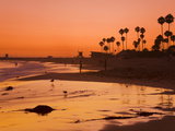 Sunset at Corona Del Mar Beach  Newport Beach  Orange County  California  United States of America
