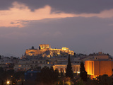 Sunset over the Acropolis  UNESCO World Heritage Site  Athens  Greece  Europe