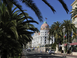 Hotels Lining Promenade Des Anglais  Nice  Alpes Maritimes  Provence  Cote D'Azur  French Riviera