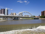 City Skyline and Main Street Bridge over the Scioto River  Columbus  Ohio  United States of America