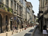 One of the Main Shopping Streets  Avignon  Provence  France  Europe