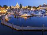 Inner Harbour with Parliament Building  Victoria  Vancouver Island  British Columbia  Canada  North