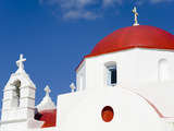 Red Domed Church in Mykonos Town  Island of Mykonos  Cyclades  Greek Islands  Greece  Europe