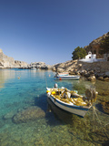 Agios Paulos Church and Fishing Boats  Rhodes  Dodecanese  Greek Islands  Greece  Europe