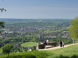 View of Dorking from Box Hill View Point  Surrey Hills  North Downs  Surrey  England  United Kingdo