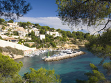 View from Hillside to the Harbour Portals Vells Near Magaluf  Mallorca  Balearic Islands  Spain  Me